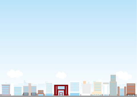 Cityscape Background Series Ekimae Building