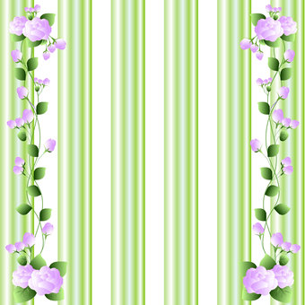 Roses and green stripes