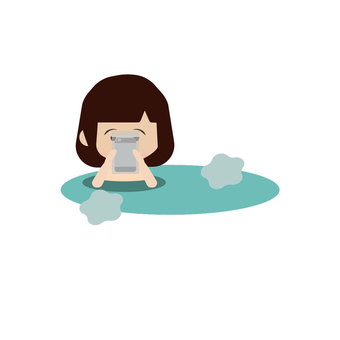 People who use smartphones in the bath