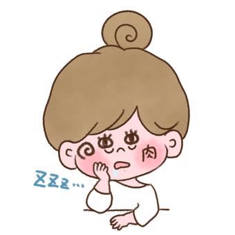 Sleeping woman doodle