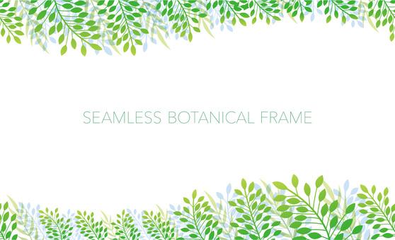 Seamless botanical frame