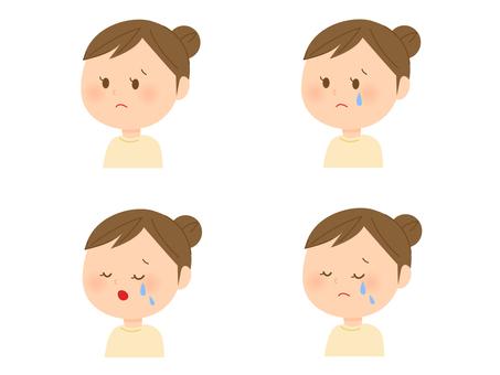 Female facial expression various 4