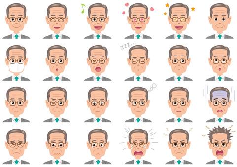 Businessman expression illustration set