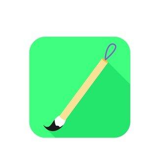 Icon, brush