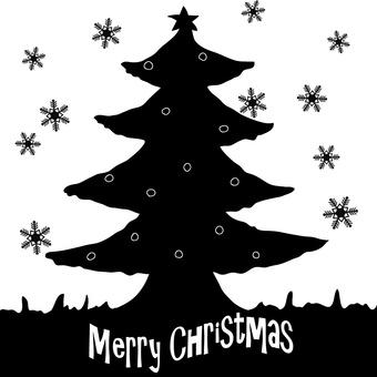 Silhouette Christmas Christmas tree
