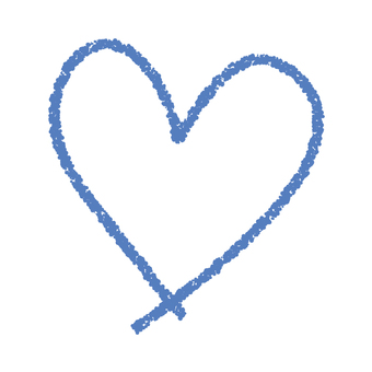 Hand-painted heart _ blue