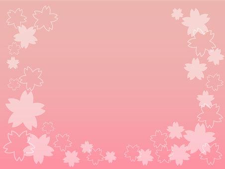 Cherry gradation frame