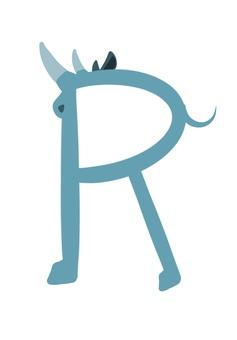 Alphabet r rhino