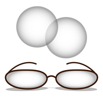 Glasses and contact lens image