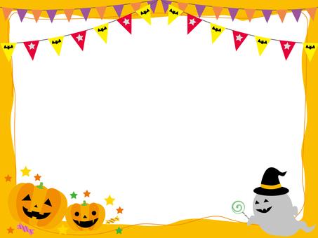 Halloween pumpkin frame