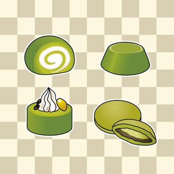 Matcha sweets