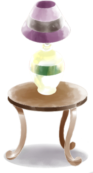 Stand light and side table