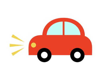 Car car sideways red