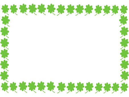 Fortune four-leaf clover frame 2