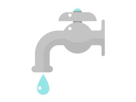 水道と水道水のイラスト