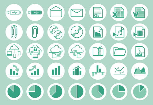 Simple icon set _ data