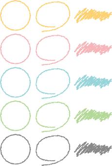 Crayon style parts