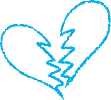 Heart (broken heart / light blue)