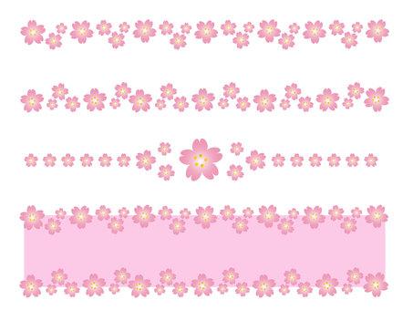 벚꽃 소재 벚꽃 프레임