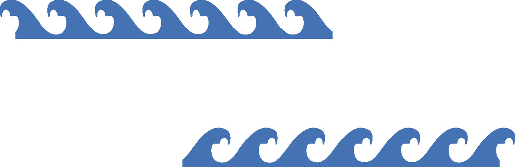 Continuous pattern of waves blue