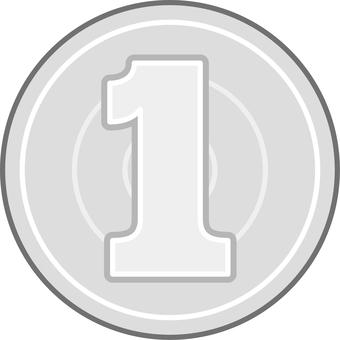 Coin one yen coin