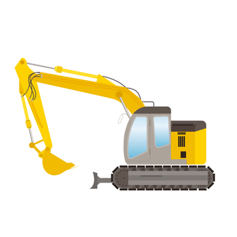 Hydraulic excavator Construction machine illustration 2