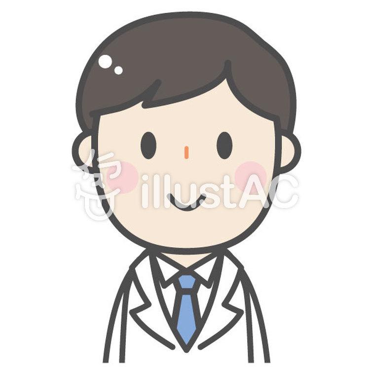 かわいい白衣の男性 医者医師薬剤師イラスト No 1143363 無料イラストなら イラストac