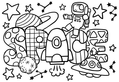 Coloring Space Universe