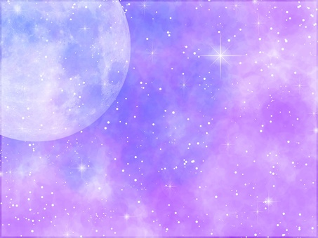 Watercolor moon purple