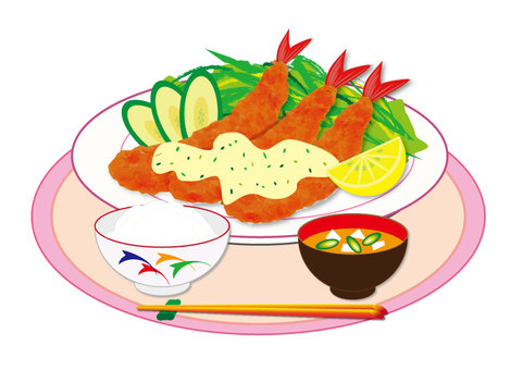 Shrimp (set meal)