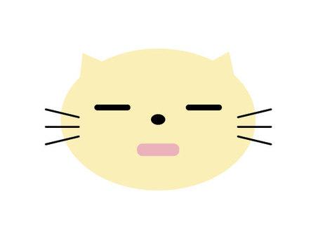 고양이 표정 장미 졸린