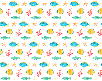 Tropical fish pattern