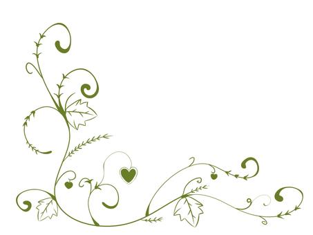Ivy decoration / frame / decorative frame