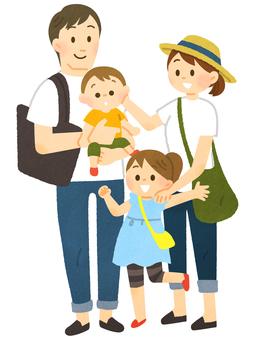 가족 외출 (여름)