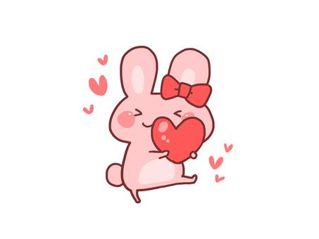 【Heart】 Illustration of Usagi 【loose character】