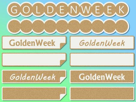 Golden week label sticker