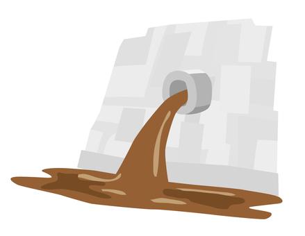 Drainage (sludge)