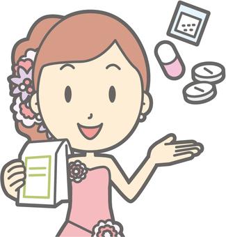 Bridegroom pink - medicine - bust