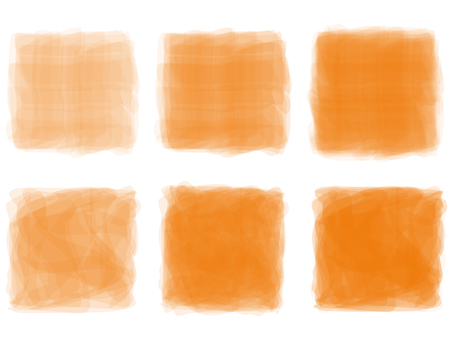 Orange orange color watercolor handwriting frame frame