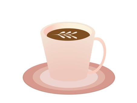 라떼 아트 커피 컵