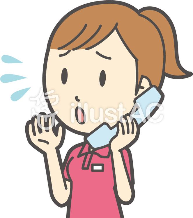 赤ポニーテール女性-308-バストのイラスト