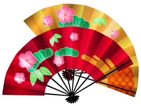Folding fan (Shochiku Mei)