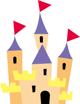 Simple cut-out style Western castle
