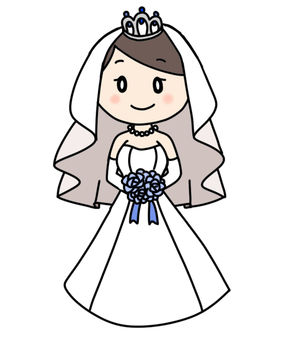Simple wedding dress illustration