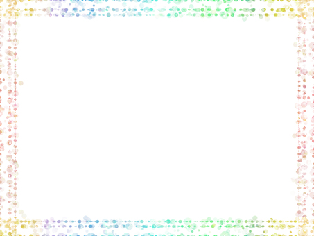 Dot frame 7 (rainbow color)
