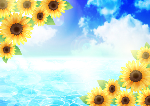 Sunflower and sea and sky 2