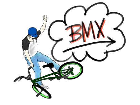 BMX rider (with logo)
