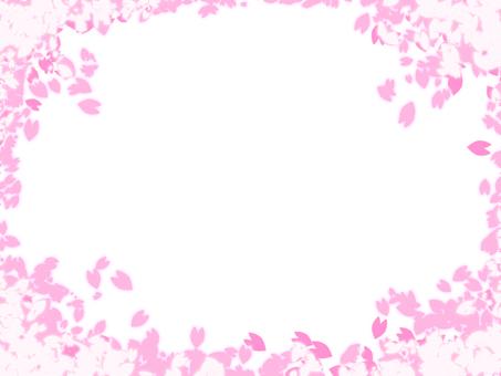 벚꽃 프레임 4 * 단순 만개 *