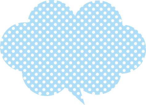 Polka dot cloud balloon (light blue)