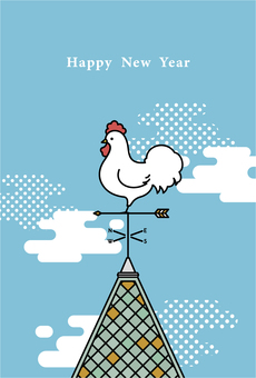 Rooster New Year's cards 5